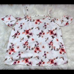 Floral white shirt 🤍
